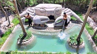 Build Amazing Crab House & Beautiful Swimming pool