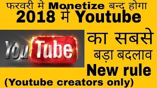 YouTube New Monetization Rules 2018 -    Bad News    My Blunt Opinion