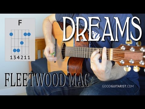 Dreams by Fleetwood Mac, easy guitar chords version + barre chord practice | how to play