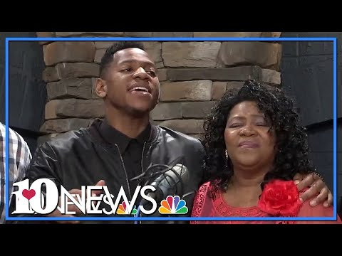 Chris Blue and family sing a beautiful gospel song