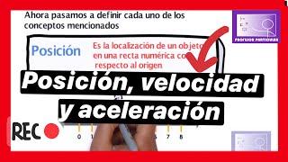 posición, velocidad y aceleración-Conceptos Física