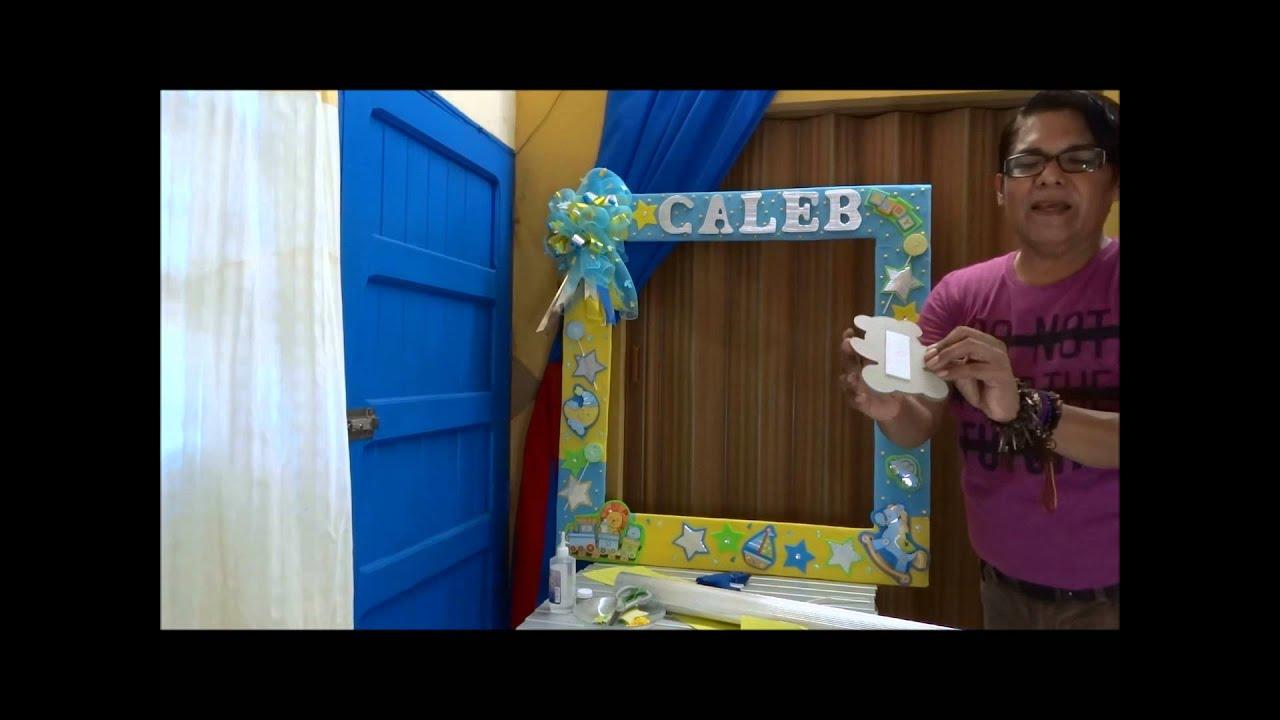 Baby shower marco fotografico youtube - Marcos para fotos decoracion ...