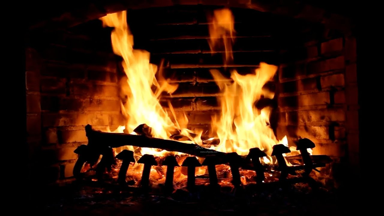 1 hour of fireplace sounds howling wind night of the demons