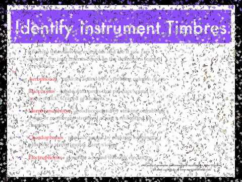 Musical timbre and instruments