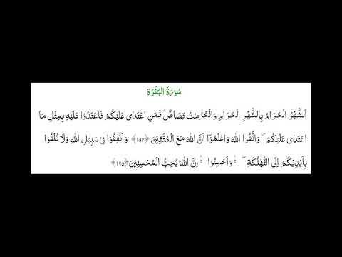 SURAH AL-BAQARA #AYAT 193-195: 2nd May 18