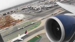 Massive Blue Engines!!!  Incredible HD Boeing 777-200LR Takeoff From Los Angeles California!!!