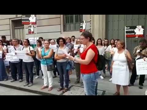 Concentración en Pontevedra contra a posta en liberdade da Manada