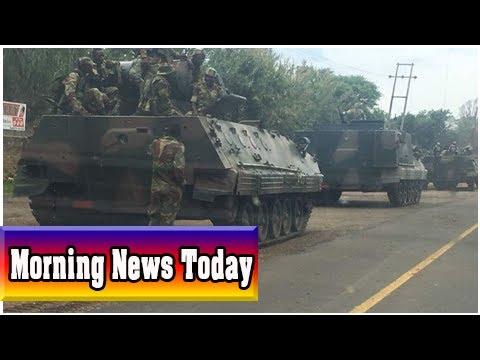 Military vehicles 'heading towards zimbabwe capital' amid political purge
