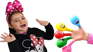 Learn colors with Balloons ! Öykü and Mommy have fun playtime