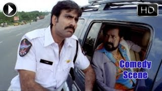Khatarnak Movie | Raviteja as Traffic Police Comedy Scene | Ravi Teja, Ileana