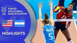 USA vs. ARGENTINA - Highlights Women | Volleyball Olympic Qualification 2019