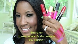 Bright Lipsticks & Glosses Ya Need!