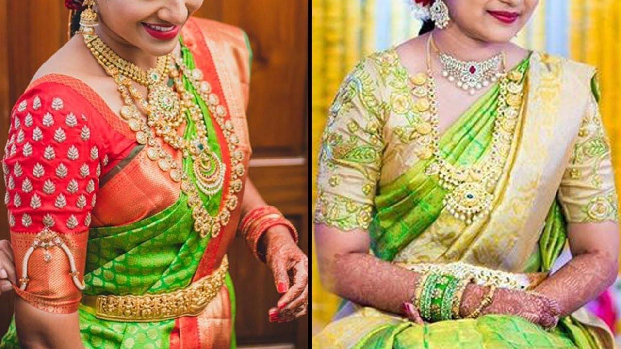 96249c2f1e Green Colour Pattu Saree Colletion | 2018 Latest Kanchipuram Silk Saree  Collections SAREE DRAPING