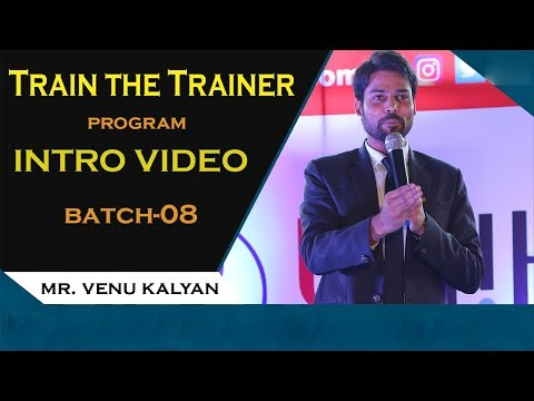 How To Become  A Professional Speaker or A Motivational Trainer? | Trainer The Trainer by VenuKalyan
