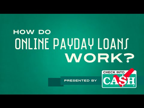 How Do Online Payday Loans Work? | Check Into Cash