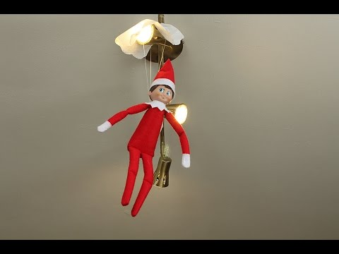 Elf On The Shelf Day17 Blizzard Gets His Parachute Stuck Youtube