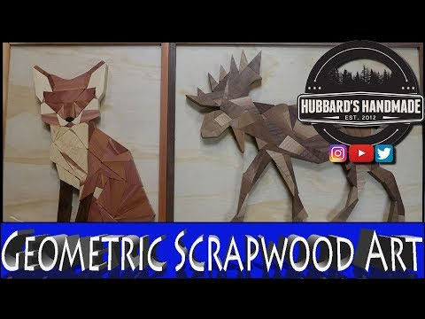 Geometric Animal Art from Scrap Wood // DIY // Wall Art // How-to