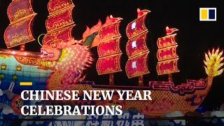 Chinese cities celebrate Chinese New Year with lanterns and lights