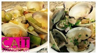 Drunken & Drunker Clams Recipe: White Wine & Tequila Based Sauces | Cait Straight Up