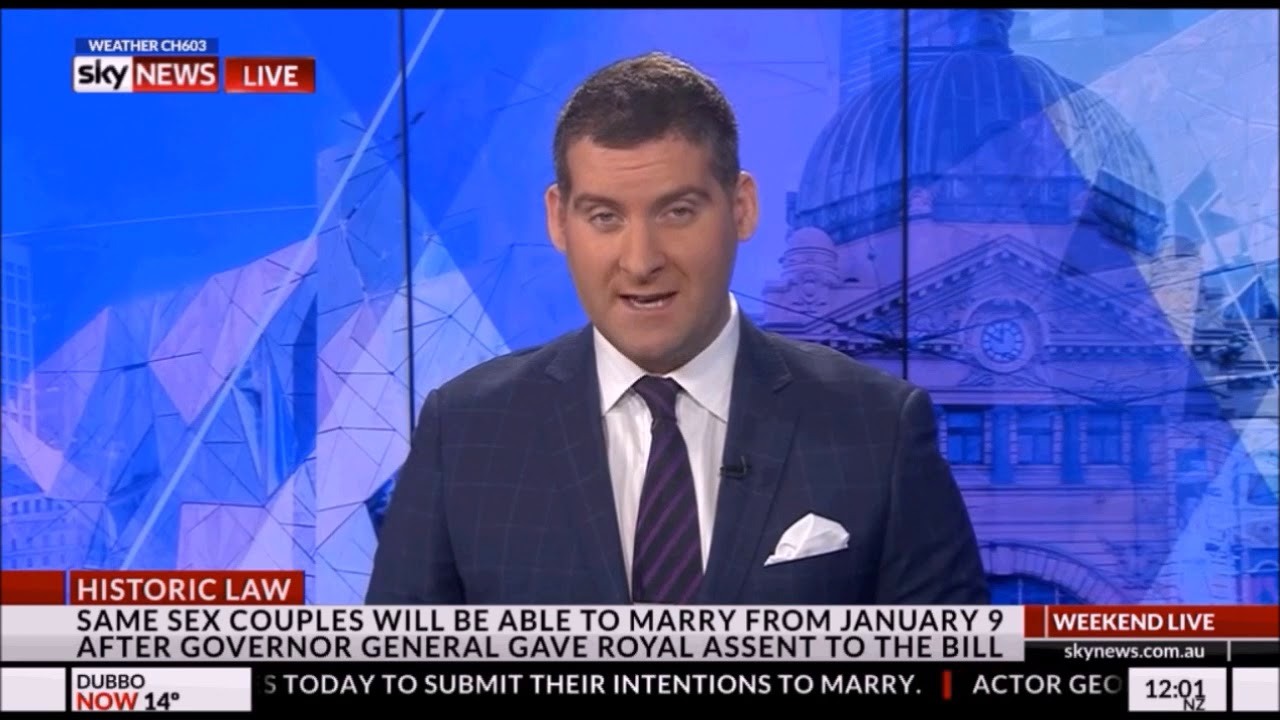 Weekend Live with Ahron Young intro - Sky News - 9 Dec 2017
