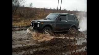 Lada Niva 4x4 по болоте