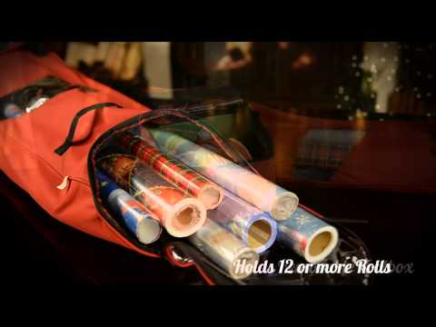 Wrapping Paper Storage with Tool Box