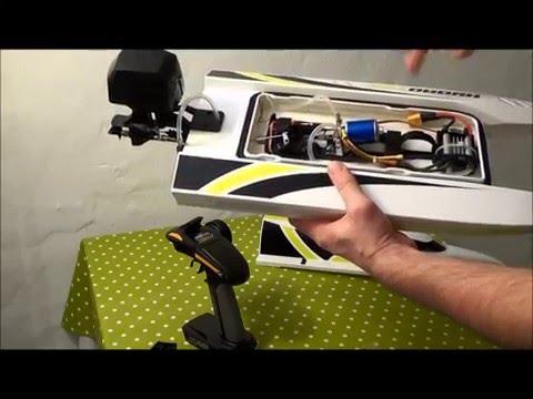 Marine Hydrotek F1 mit Flutkanal Boot Rennboot Speedboot Anleitung