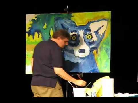 """Blue Dog"" art demo"