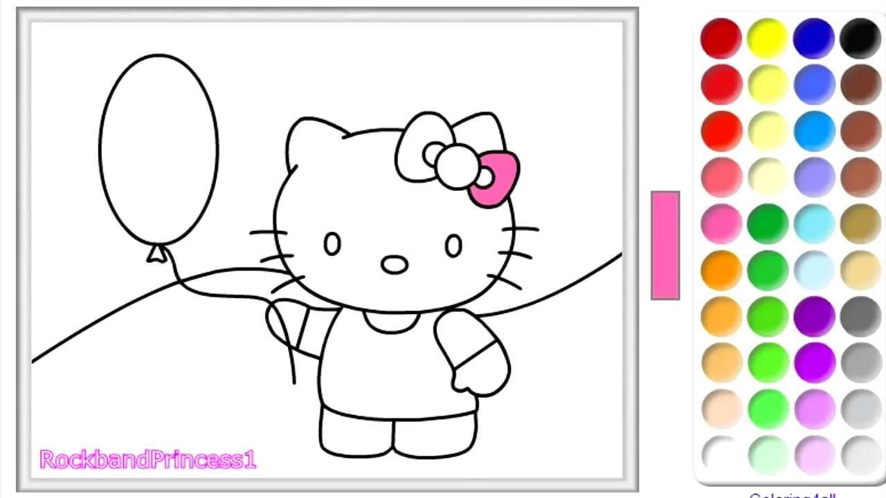 hello kitty coloring pages hello kitty coloring book youtube - Kitty Coloring Pages