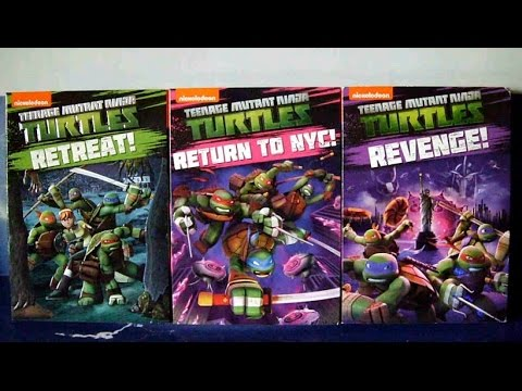 Unboxing TMNT 2012 (Season 3) DVD Volumes - Retreat, Return to NYC & Revenge!
