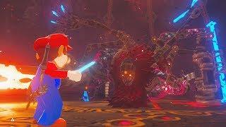 Mario Vs Calamity Ganon Zelda Breath Of The Wild By