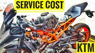 SERVICE COST OF KTM RC 390 2018 | AYUSH VLOGS