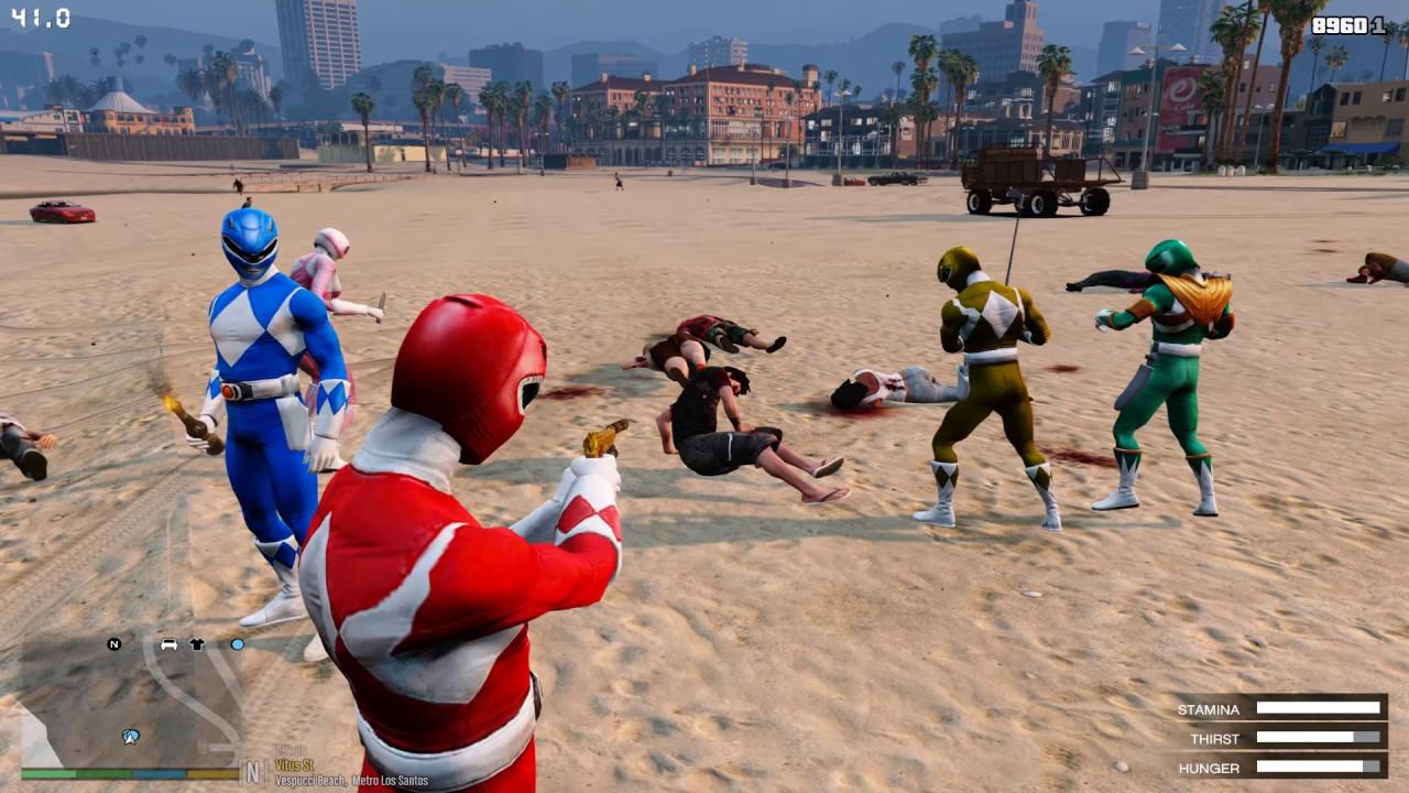 GTA 5 – 5 Anh Em Siêu Nhân Đại Chiến Zombies