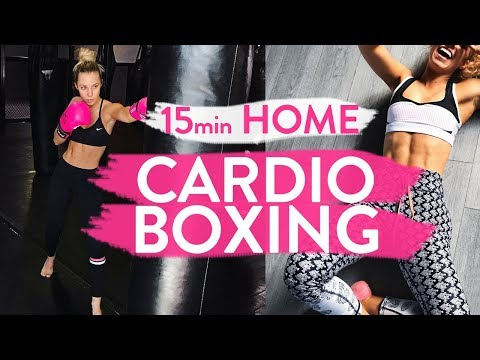 15min CARDIO BOXING WORKOUT | At Home Fat Burning Blaster!!