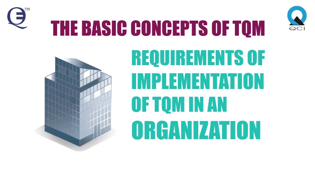 an introduction to the total quality management tqm Start studying total quality management (tqm) learn vocabulary, terms, and more with flashcards, games, and other study tools.