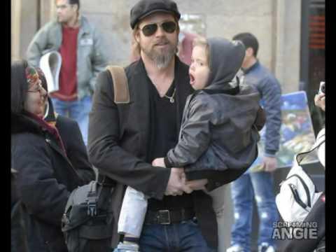 ANGELINA JOLIE & BRAD PITT FAMILY IN VENICE TO FLORENCE
