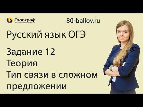 Русский язык ОГЭ 2019. Задание 12. Теория. Тип связи в сложном предложении