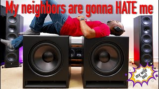 """These dual 18"""" MONSTER home theater subwoofers cost less than you'd think   GSG MartyCube V2.1"""