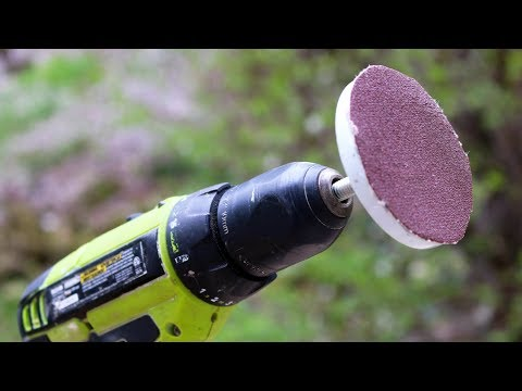 HOW TO TRANSFORM DRILL DRIVER INTO SANDER TOOL!!!