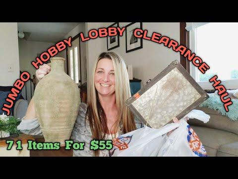 JUMBO Hobby Lobby Clearance Haul | AMAZING Bargains | Look What I Found😯 Many Ideas