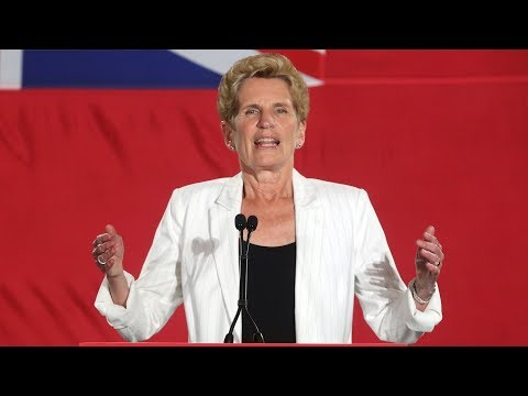 Ontario election: Emotional Kathleen Wynne resigns as Liberal leader after election loss