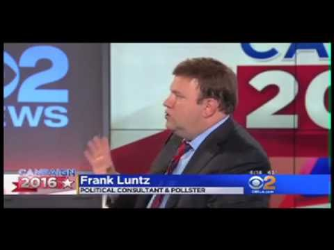 Aug. 13, 2016 - Frank Luntz on CBS Los Angeles - Campaign 2016