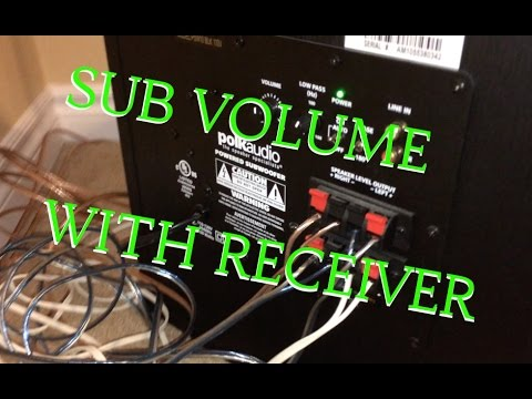 control-subwoofer-volume-with-receiver---polk-audio-psw10-yamaha-rx-v375