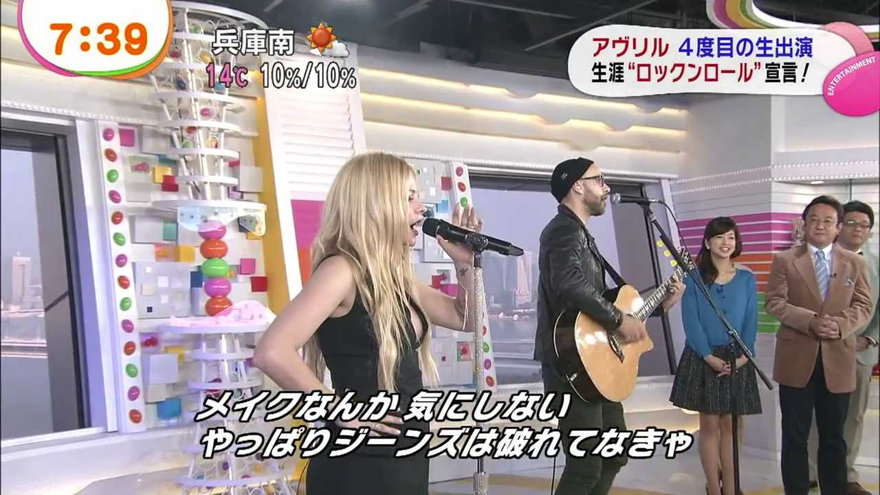 Download Avril Lavigne - Rock N Roll (Acoustic) @ Japanese TV show 18/11/2013
