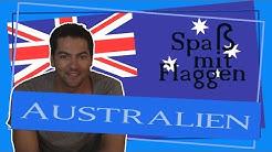 Abstecher nach Down Under - Australien - Spaß mit Flaggen