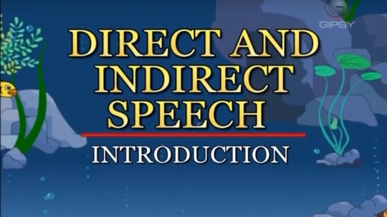 small resolution of Understanding Skills   English Grammar   Direct and Indirect Speech    KidRhymes - YouTube