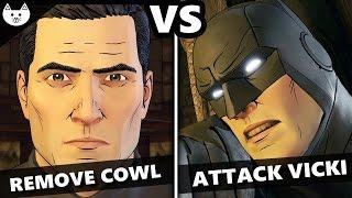 Telltale Batman Episode 5 - REMOVE COWL vs ATTACK VICKI- (Batman EP5 Choices Identity Reveal)