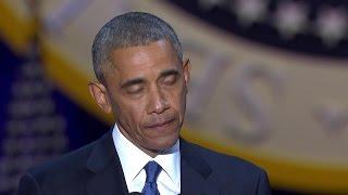 Obama atokwa na machozi akimshukuru Michelle
