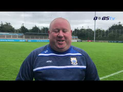 Naomh Fionnbarra manager Niall Brady speaks to DubsTV after 2020 Dublin Senior B Hurling Final win
