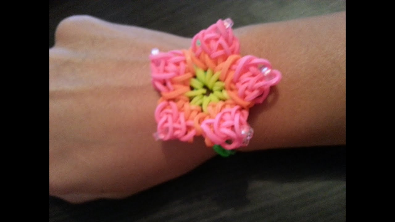 a bracelet rainbow charm loom hibiscus to how make you flower beautiful